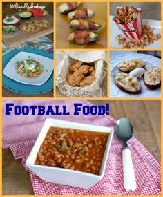 OK maybe not Healthy, but not processed at least! Real food for tailgating and game days -- YAY football snacks!