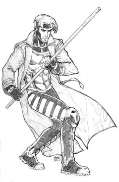 Gambit by MikeDimayuga on DeviantArt Gambit X Men, Rogue Gambit, Marvel Xmen, Marvel Comics, Avengers Coloring Pages, Comic Books Art, Book Art, Drawing Sketches, Drawing Ideas