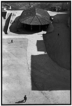 """Magnum Photos -   Henri Cartier-Bresson View profile ITALY. Tuscany. Sienna. 1933. """"I was visiting the museum and happened to look out of an upstairs window, and saw this empty marketplace, stark in its lack of activity."""""""