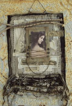 ⌼ Artistic Assemblages ⌼  Mixed Media & Collage Art - by MossHillsStudio on etsy