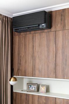 Daikin Ac, Credenza, Kitchen Cabinets, Stylish, Storage, Furniture, Home Decor, Purse Storage, Decoration Home