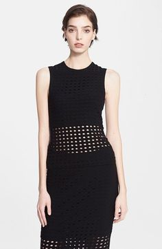 T by Alexander Wang Perforated Crewneck Tank available at #Nordstrom