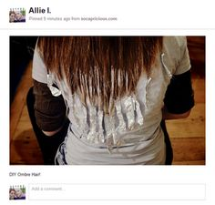 For the love of god please do not attempt to do ombr yourself it diy tutorial on how to achieve ombre hair at home using loreal highlighting kit solutioingenieria Gallery