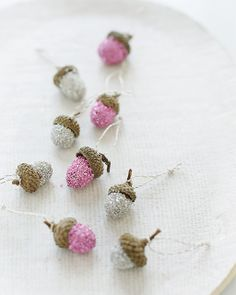 Glitter Acorn Gift Toppers/Ornaments
