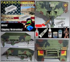 Shortys Werkbank: M1082 LMTV-Workbench-Painting!-Schritt4!