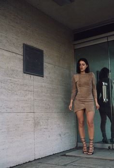 Karla focuses more on silhouette than color, sticking with earth tones.