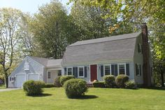 Like the color of siding, shudders and door Gambrel Roof, Garage Shed, Dutch Colonial, House In The Woods, The Expanse, Sweet Home, Real Estate, Outdoor Structures, Architecture