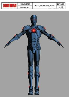 Iron Man D concept art from Iron Man Armored Adventures