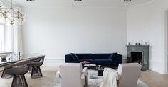Luxurious and light filled apartment with park views #AMMblog #Stockholm #livingroom #scandinavianinteriors