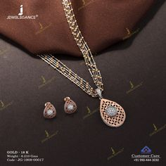 Get in touch with us on 990 444 3030 Funky Jewelry, Stylish Jewelry, Gold Jewellery Design, Cz Jewellery, Pendant Set, Gold Pendent, Gold Necklace Simple, Diamond Bangle, Diamond Jewelry