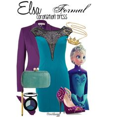 Elsa- Formal Coronation Dress, created by courtdawggg on Polyvore