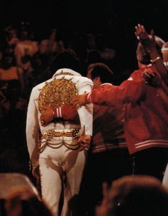 Elvis and Joe Esposito take their last exit off the stage together, June 26, 1977 (The Final Concert)