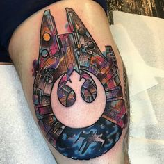 "4,918 Likes, 135 Comments - 1st Official Game Tattoo Page🏅 (@videogametatts) on Instagram: ""#starwarssaturday  Cosmic Star Wars tattoo by @littleandytattoo 👈  #starwars #starwarstattoo…"""