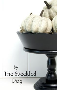 DIY faux antiqued pumpkins