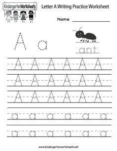 letter tracing website has loads of printable worksheets  kindergarten letter a writing practice worksheet printable english  worksheets for kindergarten kindergarten writing