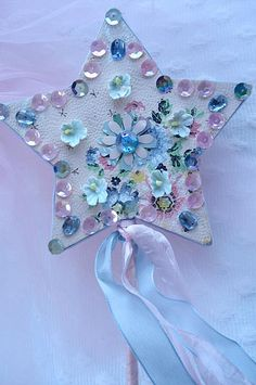 Fairy wand using vintage wallpaper