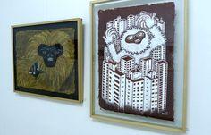 Subtu | Macaco Amarelo - 55 x 75cm | Macaco Cidade - 75 x 55cm