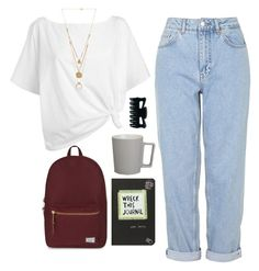 """""""art hoe"""" by ripped-denim-jeans ❤ liked on Polyvore featuring Boutique, Red Herring, Maison Margiela, CB2 and Herschel Supply Co."""