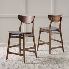 The Vera counter chairs are a great addition to any home. With cushioned seats and a beautifully finished wood frame, you can't go wrong with these counter chairs. These simple yet elegant counter chairs are sure to impress.