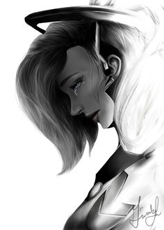 I started maining Mercy in comp and thought I'd make a drawing in her honor. Why is she crying? Maybe because of some deep psychological reason; maybe something is happening offscreen that we canno...