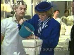 Princess Diana visits Royal Doulton factory: Diana visits Royal Doulton factory and watches production of fine bone china, attempting to cast a china figure herself. Date: 5.4.84