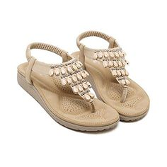 d1fd0533e 2017 New Summer Bohemia Flat Women Sandals Rhinestone Woman Flip Flops  Vintage Women Shoes Beach Shoes Sandals