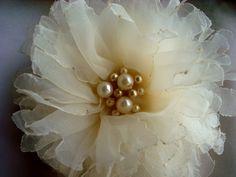Very pretty organza flower.