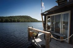 Check out this awesome listing on Airbnb: The River Den - Boats for Rent in Wakefield: the river den, riverden, wakefield pirate