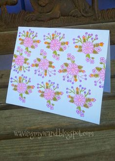 Waving My Wand: Birthday Flowers Card and a Challenge
