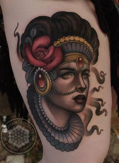 Neotraditional Victorian lady face by me, Logan Bramlett at Wanderlust Tattoo Society Akron Ohio : tattoos Lady Face, Woman Face, Logan, Akron Ohio, Neo Traditional, Makeup Photography, Cool Tattoos, Amazing Tattoos, Tattoo Designs