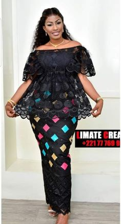 Cute Ankara Skirt And Blouse Styles For Ladies To Check out latest ankara skirt and blouse skirt and blouse style for wedding Long African Dresses, African Lace Styles, Latest African Fashion Dresses, African Print Dresses, African Print Fashion, Modern African Fashion, Ankara Rock, Ankara Stil, African Traditional Dresses