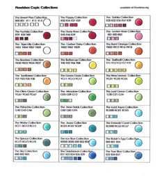 Michelle's MBellishments: Flourishes Copic Color Combinations Chart