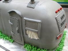 Too cool for description:  an Airstream birthday cake