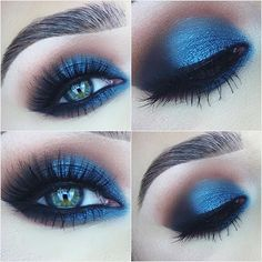 """Played with @anastasiabeverlyhills """"Prussian Blue"""" today  full details coming soon ☄"""