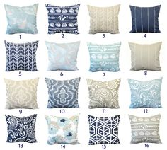 One pillow cover, Indigo Navy Pillow, Blue Pillow, Tan Pillow, Throw Pillow, Decorative Pillow, Accent Pillow, blue pillow, Nautical decor by ThatDutchGirlPillows on Etsy