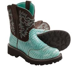 Ariat Fatbaby Gator Print Cowboy Boots (For Women))