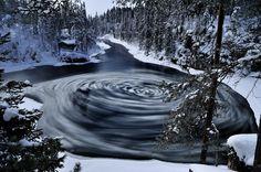 Jääpyörre - ice vortex by Lauri Salminen. Nature Photo Competition in Finland Forest Painting, Photo Competition, Winter Scenery, My Land, Story Inspiration, Archipelago, Planet Earth, Amazing Nature, Vintage Postcards