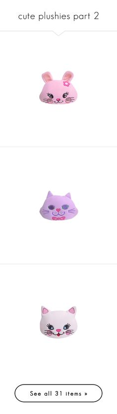 """""""cute plushies part 2"""" by kawaii-items ❤ liked on Polyvore featuring cute, pastel, kawaii, japan, jfashion, accessories, eyewear, sunglasses, plushies and filler"""