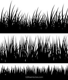 Grass Clipart, Grass Vector, Grass Silhouette, Silhouette Clip Art, Fairy Silhouette, Free Vector Illustration, Vector Art, Grass Drawing, Black Grass