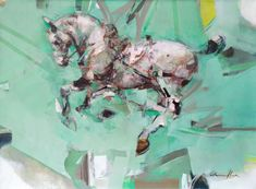 Pascale Chandler | Peppermint Crisp (2020) - for sale | StateoftheART Peppermint Crisp, Liquorice Allsorts, Equestrian, Oil On Canvas, Original Paintings, Africa, Gallery, Artwork, Artist