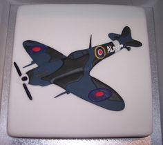 Spitfire Helicopter Birthday, Cakes For Men, Diy Food, Birthday Cakes, Cake Ideas, Cake Decorating, Wedding Cakes, Aviation, Cookies