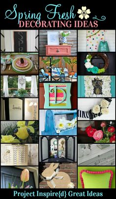 Spring Fresh Decorating ideas from Project Inspire{d} at Cupcakesandcrinoline.com