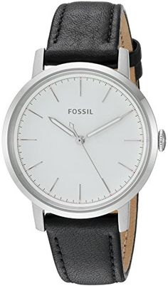 Fossil Womens ES4186 Neely ThreeHand Black Leather Watch *** Click image to review more details. Note: It's an affiliate link to Amazon