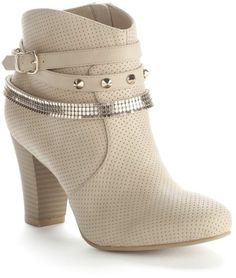| ... lopez perforated studded ankle booties - women $89.99 thestylecure.com