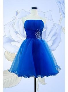 USD$79.00 - Cute Strapless Crystal Mini Homecoming Dress, Repin It and You will Get $10 Off If you buy the dress - www.suzhoudress.com