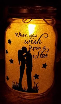 Magical Glittered Mason Jar With Light - Kelly Belly Boo-tique  - 1