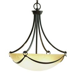Shop allen + roth Winnsboro 19.5-in W Oil-Rubbed Bronze Pendant Light with Marbleized Shade at Lowes.com