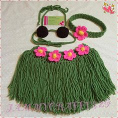 Crochet Baby Girl Hula Set/Hawaiian Outfit/Girl Grass Skirt/Coconut Bikini Top/Baby Girl/Baby shower Gift/Hula Set/Newborn Photography Prop by JAMMYCRAFFTS29 on Etsy