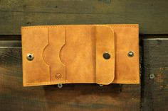 Leather wallet handmade small wallet genuine by MenEvolution
