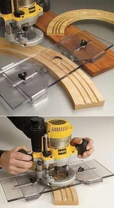 Wood Plainer Woodworking Tools -Ill-fated Wood Plainer Woodworking Tools - Senior Editor Glen D. Huey is a maestro with the router. here, he shows you his 11 best no-frills router jigs and techniques. Jig Router, Wood Router, Router Woodworking, Woodworking Techniques, Popular Woodworking, Woodworking Furniture, Fine Woodworking, Woodworking Crafts, Woodworking Beginner